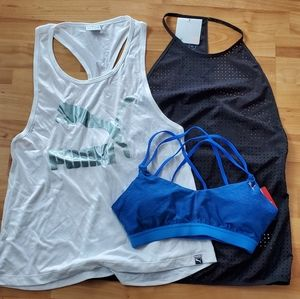 Puma Lot Bundle Bra Tanks S